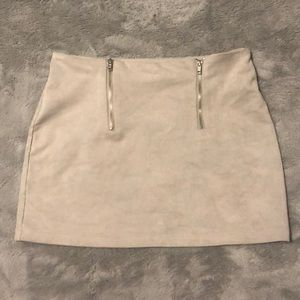 gray skirt with 2 zippers